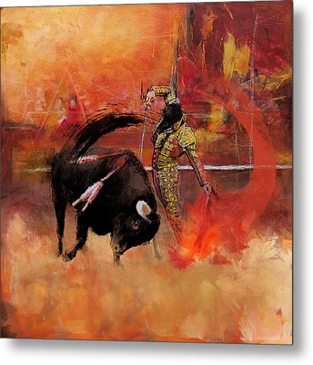 Impressionistic Bullfighting Metal Print by Corporate Art Task Force