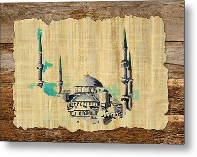 Impressionistic Masjid E Nabwi Metal Print