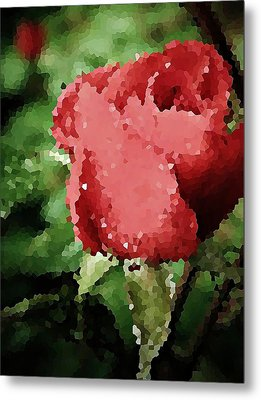 Impressionistic Rose Metal Print by Chris Berry