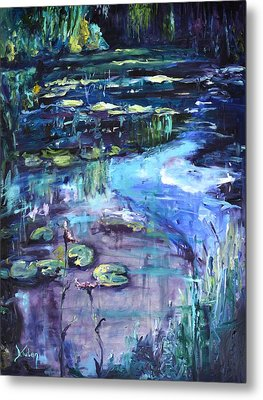 Impressions Of Giverny Metal Print by Donna Tuten