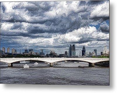 Impressions Of London - Stormy Skies Skyline Metal Print
