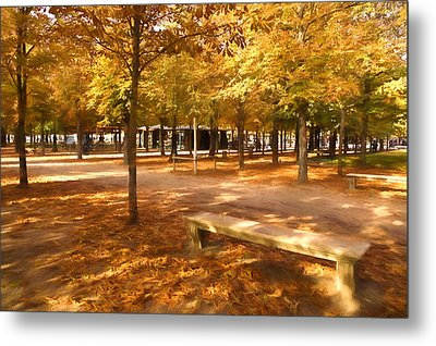 Impressions Of Paris - Tuileries Garden - Come Sit A Spell Metal Print