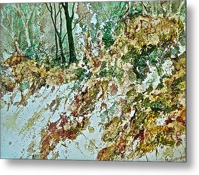 Metal Print featuring the painting Impressions Of Spring by Carolyn Rosenberger
