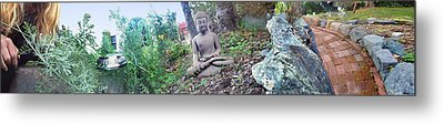 In A Buddha Garden Of Surreal Dreams Metal Print by Wernher Krutein