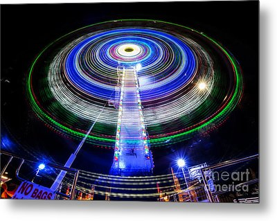 In A Spin Metal Print