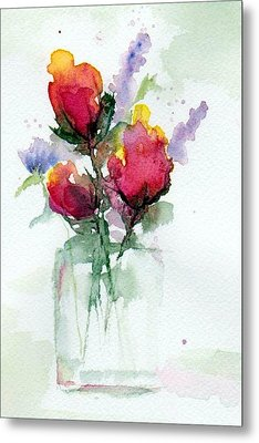 In A Vase Metal Print by Anne Duke