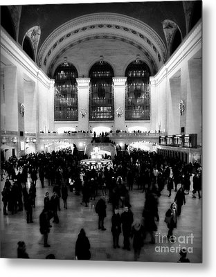 In Awe At Grand Central Metal Print