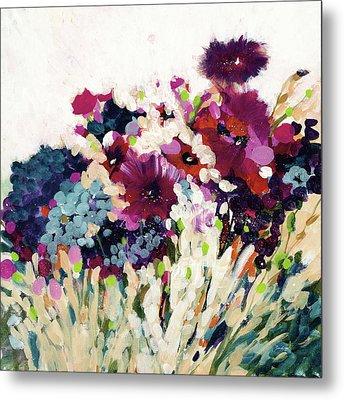 In Bloom On White Crop Metal Print