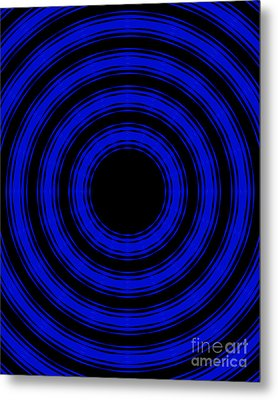 Metal Print featuring the painting In Circles- Blue Version by Roz Abellera Art