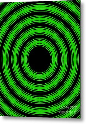 Metal Print featuring the painting In Circles-green Version by Roz Abellera Art