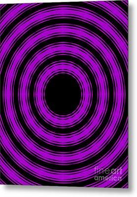 In Circles-purple Version Metal Print by Roz Abellera Art