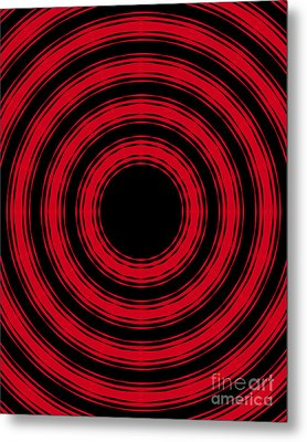 Metal Print featuring the painting In Circles- Red Version by Roz Abellera Art