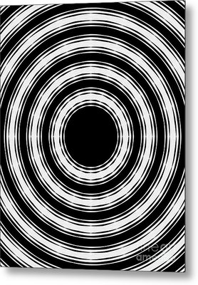 In Circles Metal Print by Roz Abellera Art