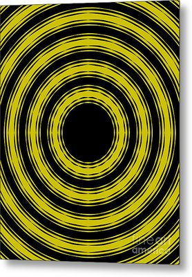 Metal Print featuring the painting In Circles- Yellow Version by Roz Abellera Art