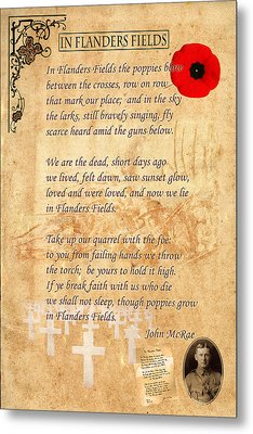 In Flanders Fields Metal Print
