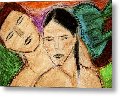 Metal Print featuring the pastel In Harmony by Chrissy  Pena