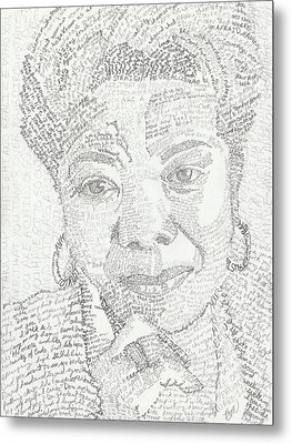 In Her Own Words Maya Angelou Metal Print by Beverly Marshall