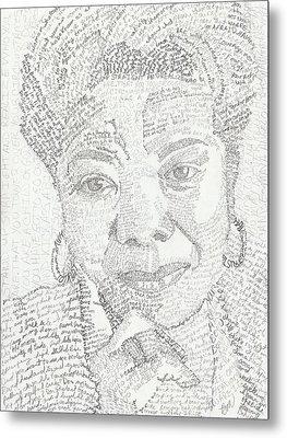 In Her Own Words Maya Angelou Metal Print