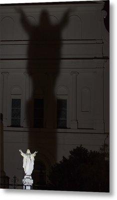 In His Shadow Metal Print