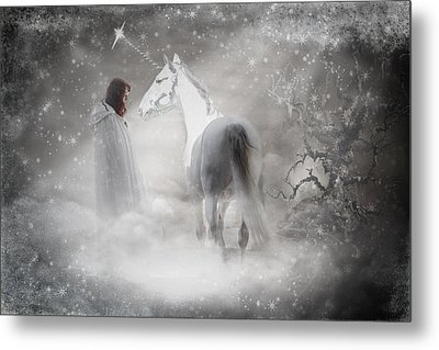 In Honor Of The Unicorn D4079 Metal Print by Wes and Dotty Weber