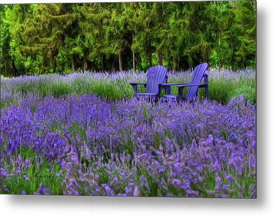 In Lavender Metal Print
