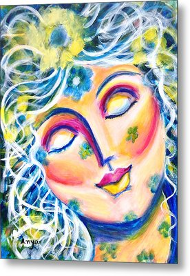 Metal Print featuring the painting In Love by Anya Heller