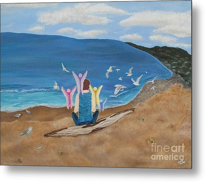 Metal Print featuring the painting In Meditation by Cheryl Bailey
