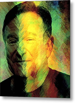 In Memory Of Robin Williams Metal Print by Ally  White