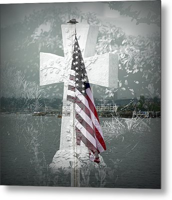 In Memory Of Those Who Died On 9-1-1 Metal Print by Lori Seaman