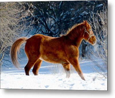 In Motion Metal Print