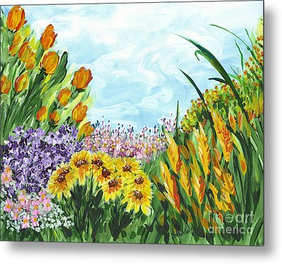 In My Garden Metal Print by Holly Carmichael