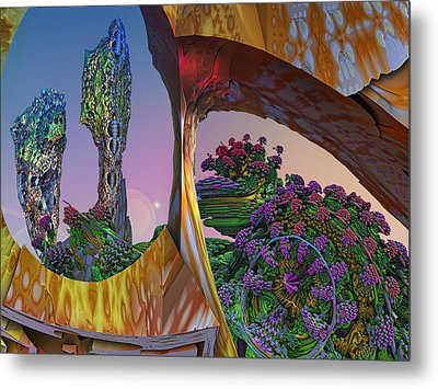 In My Own Little World Metal Print