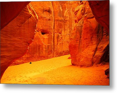 In Orange Chasms Metal Print by Jeff Swan