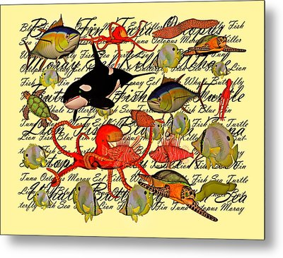In Our Sea Metal Print by Betsy Knapp