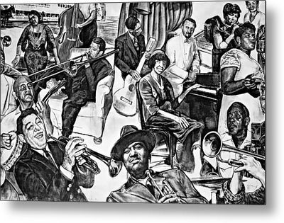 In Praise Of Jazz II Metal Print by Steve Harrington