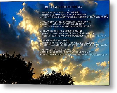 In Prayer I Touch The Sky Metal Print
