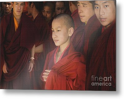 Metal Print featuring the digital art In Prayer Time by Angelika Drake