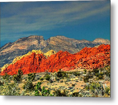 In Red Mountain 1 Metal Print