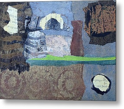 Metal Print featuring the mixed media In Ruins by Catherine Redmayne