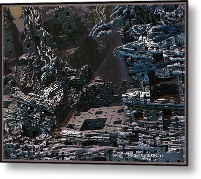 Metal Print featuring the digital art In Ruins by Melissa Messick
