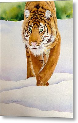 In Search Of Dinner Metal Print by Cynthia Roudebush