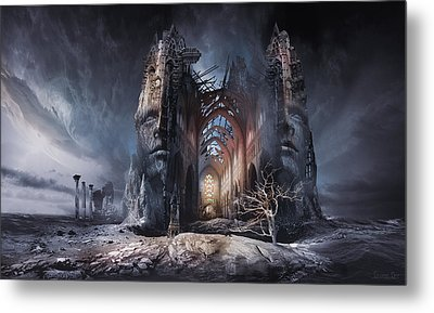 In Search Of Meaning Metal Print by George Grie