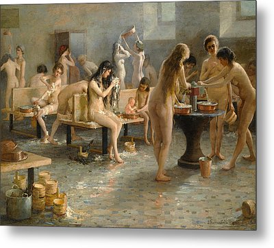 In The Bath House Metal Print
