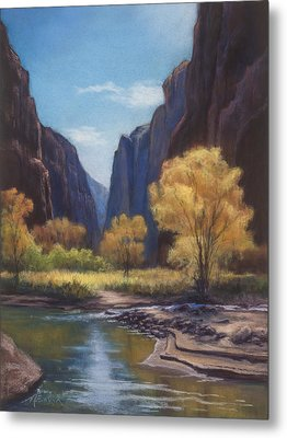 In The Bend Zion Canyon Metal Print