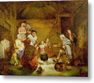 In The Crofters Home, 1868 Metal Print