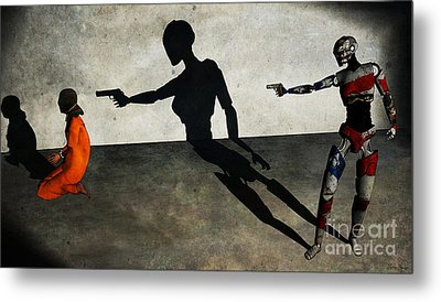 In The Crosshair Of A Nation Metal Print by Sina Souza