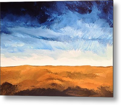 Metal Print featuring the painting In The Distance by Linda Bailey