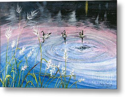 Metal Print featuring the painting In The Dusk by Melly Terpening