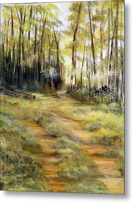 Metal Print featuring the painting In The Forest by Dorothy Maier
