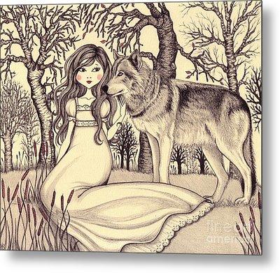 In The Forest Metal Print by Snezana Kragulj